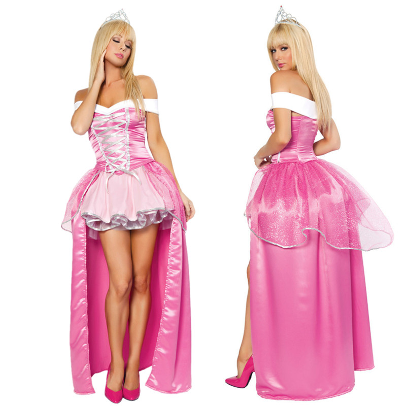 halloween costumes for women adult cinderella dress princess belle costume female snow white costume fairy tale - Halloween Costume Pink Dress