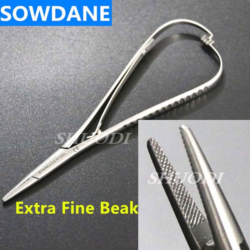 Serrated Tip Dental Orthodontic Mathieu Needle Holder Forcep 14cm,Extra Fine Beak Instrument Tool