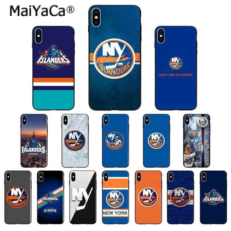 MaiYaCa New York Islanders TPU Zachte Siliconen Phone Case Cover voor iPhone 6S 6plus 7 7plus 8 8Plus X Xs MAX 5 5S XR