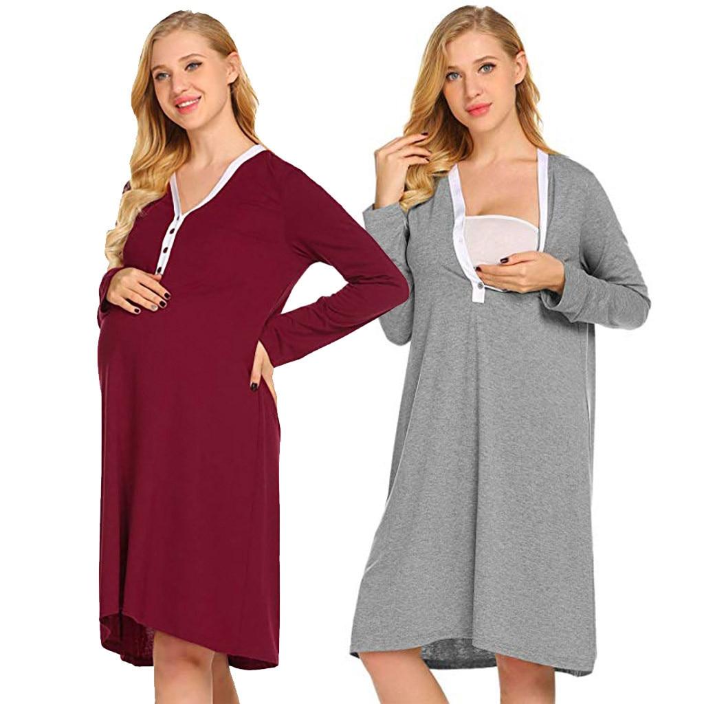 dc839e5c2b7 2019 ARLONEET Plus Size Pregnant Maternity Nursing Robe Delivery ...