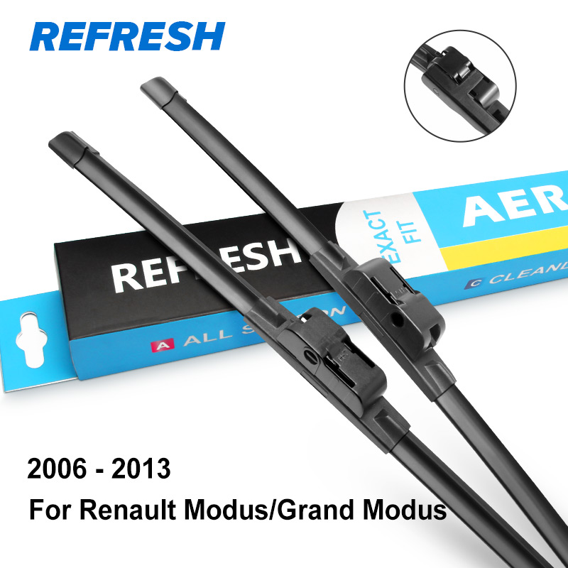 REFRESH Щетки стеклоочистителя для Renault Modus / Grand Modus 2004 2005 2006 2007 2008 2009 2010 2011 2012 2013 - Цвет: 2006-2013