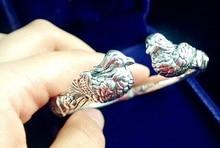 High quality 100% 925 sterling silver bracelet for men& women bracelets 925 silver cuff bracelet