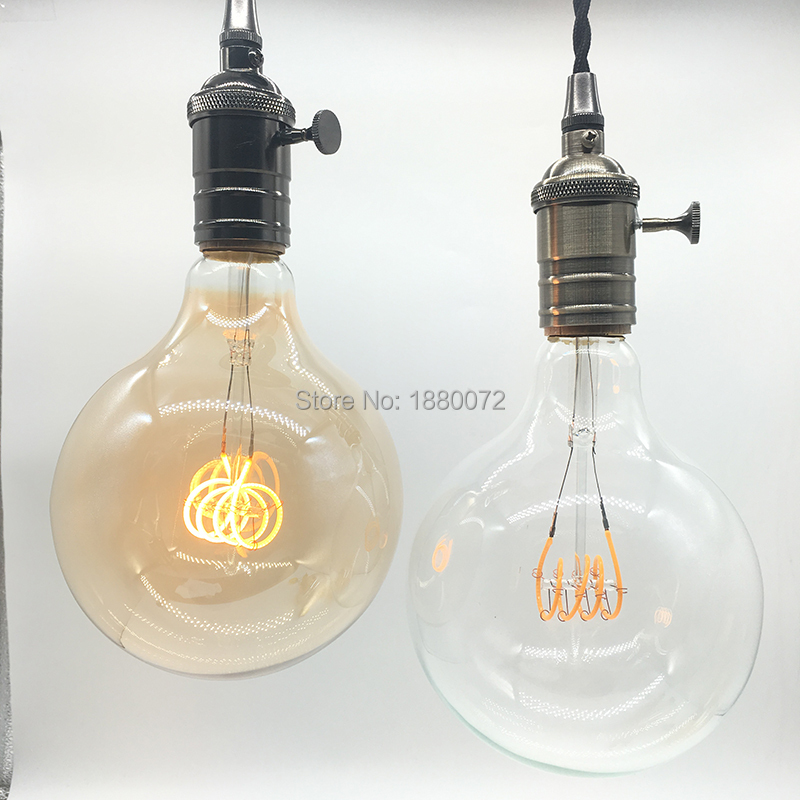 A19 Led Filament Bulb Nostalgic Edison Style 4w To Replace: Dimmable G125 Vintage Led Light Bulbs Retro Edison Style