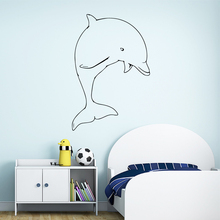 Diy Dolphins Wall Sticker Home Decor Decoration for Living Room Company School Office Removable Mural