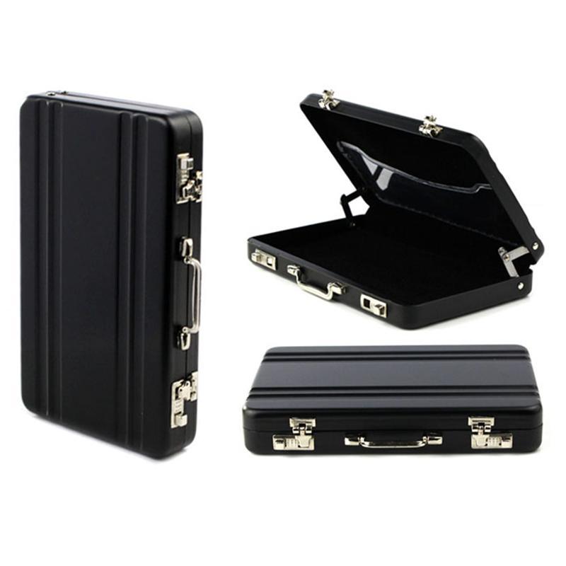 Us 2 2 Auf Verkauf Glück Metall Mini Koffer Visitenkarte Fällen Bank Karte Name Karte Halter Fall Box Bolsas Feminina Bolsas Wichtigsten