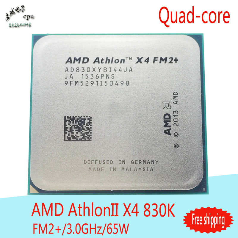 Processors AMD Athlon X4 830 CPU Quad-Core 3.0 GHz 4M 65W Socket FM2