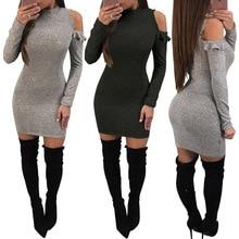 women dress fashion ladies female womens clothing solid autumn fall winter dresses