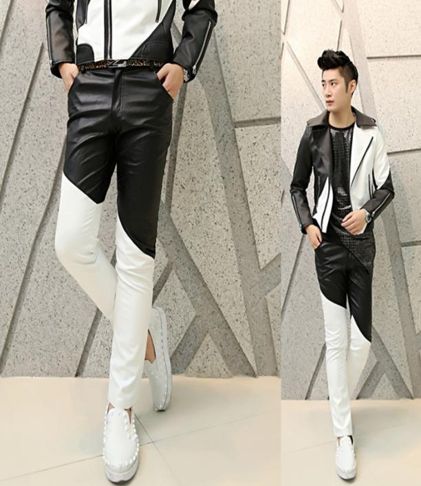 black and white pants for men - Pi Pants