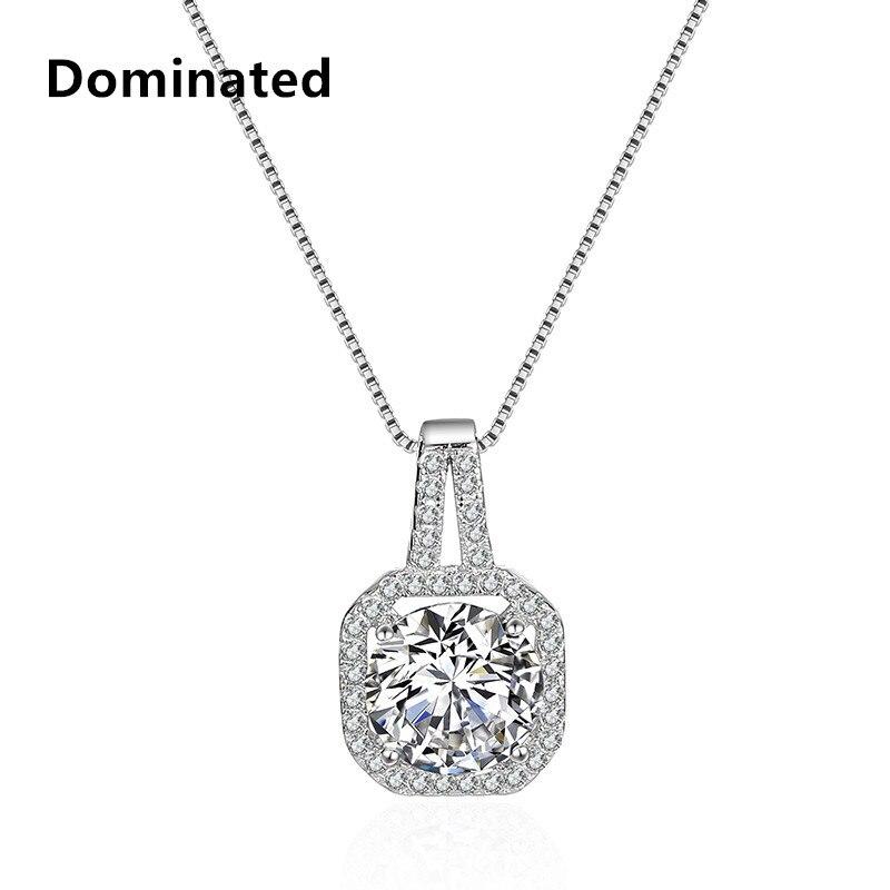 Dominated women Simple Temperament Short Necklace Female Zircon Pendant