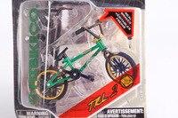 2015 New Professionale Flick Trix Finger Bmx Bicicleta Reale Freni lega Giocattolo Divertente Per I Ragazzi Con Gadget Verde E Oro colore