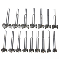 16Pcs Titanium Coated Forstner Drill Bits High Quality Woodworking Hole Saw Cutter Set 15 35mm For