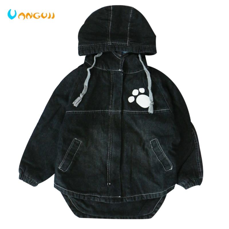 Осеннее пальто для мальчиков джинсовая куртка для детей От 4 до 13 лет с капюшоном с рисунками героев мультфильма изогнутые подол ветровка дл...