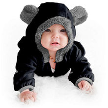CHAMSGEND fashion Children Newborn Girls Infant Toddler Baby Girls Boys Cartoon Ears Hoodie Romper Zip Clothes Jumpsuit Nov9(China)