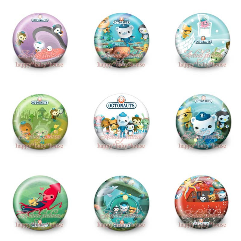 Novelty 90pcs The Octonauts Cartoon Buttons Pins Badges,round Badges,30mm Diameter,clothing/bags Accessories Birthday Gifts Refreshment Bag Parts & Accessories