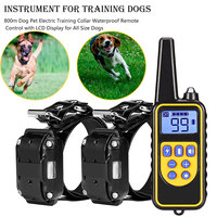 800m Electric Dog Training Collar Pet Remote Control Waterproof Rechargeable with LCD Display