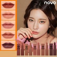 NOVO Pumpkin Color Matte Nude Lipstick Waterproof Long Lasti