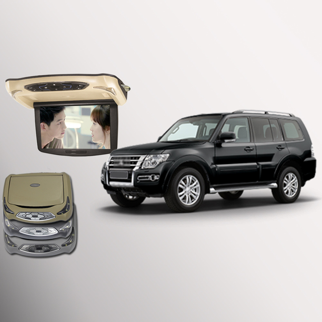 BigBigRoad Flip Down Monitor For Mitsubishi Pajero Car Roof - Mitsubishi support