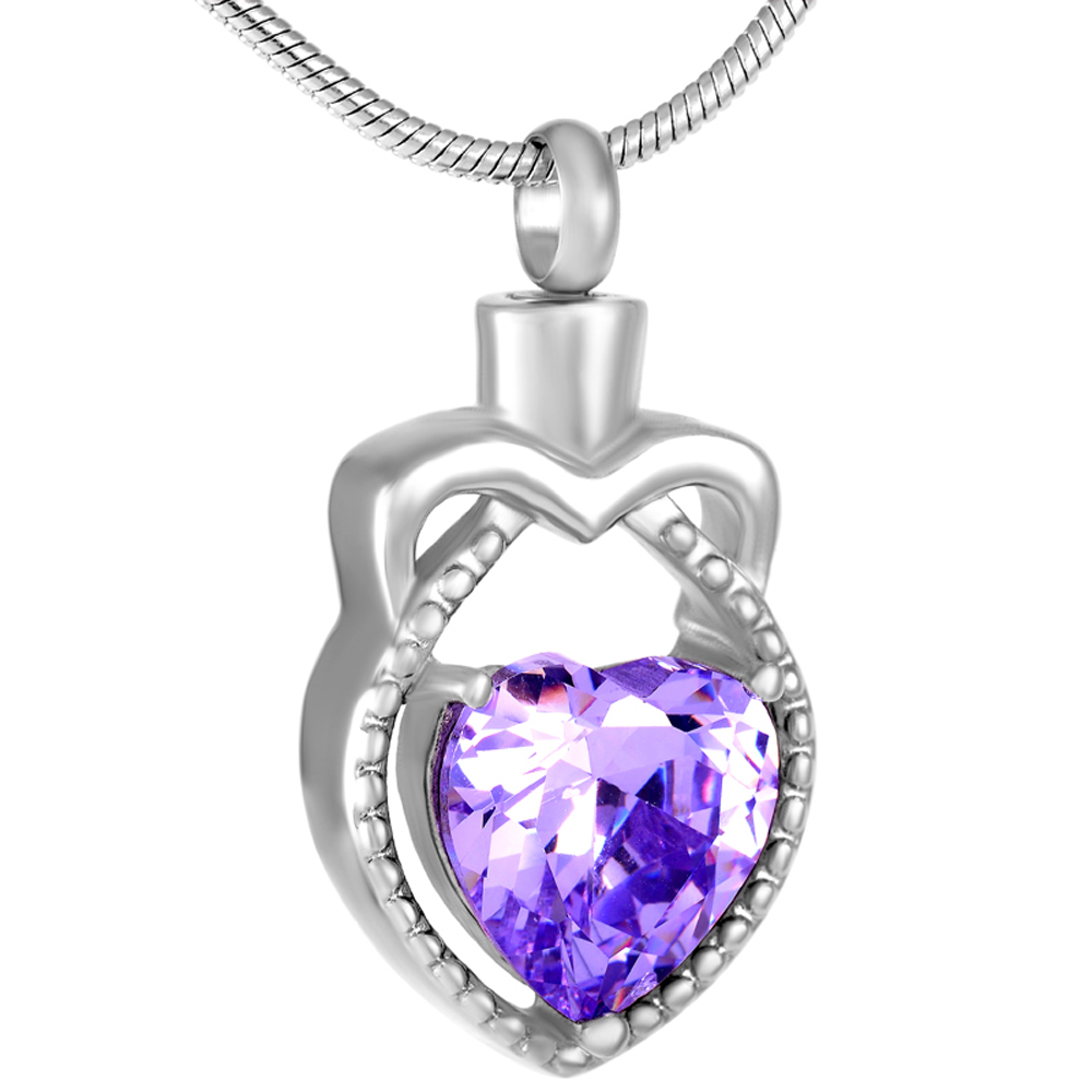 MJD9287 Eagle Shape Heart Birthstone Cremation jewelry