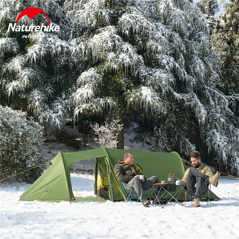 2019 nature randonnée nouveau ultraléger Tunnel Opalus Double tente Camping en plein air randonnée 3 personnes tente NH17L001-L