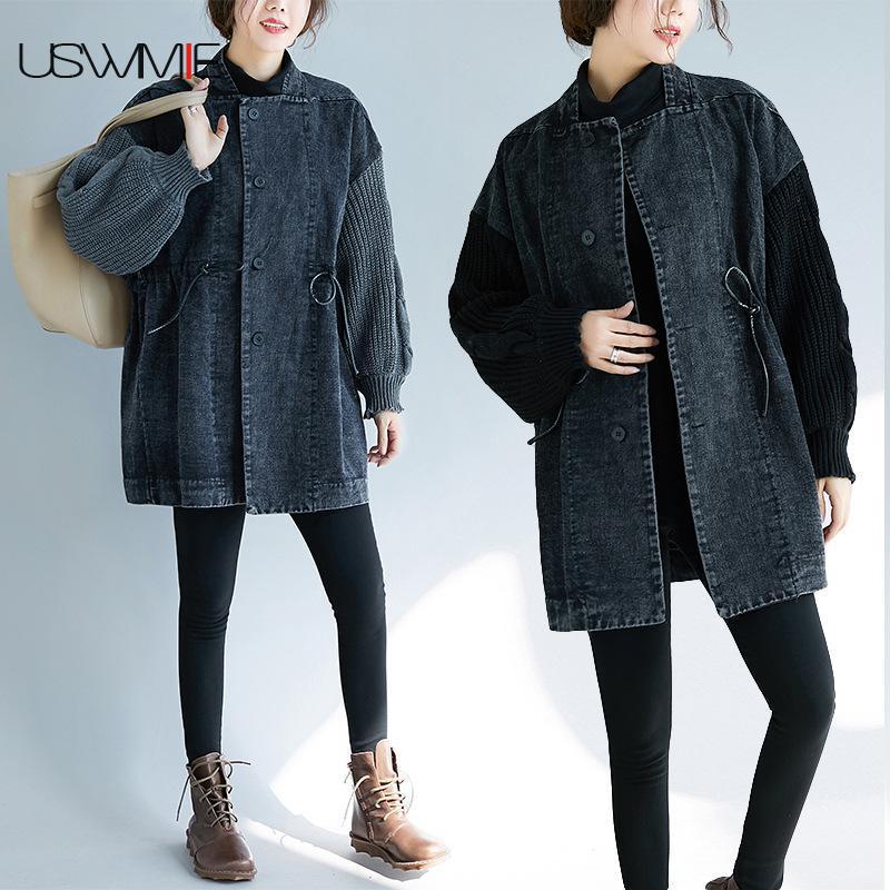 b8f78254674e6 2018-Veste-D -hiver-Femmes-Mode-Manches-Longues-Unique-Poitrine-Couleur-Correspondant-Lavage-Sale-Confort- Plus.jpg
