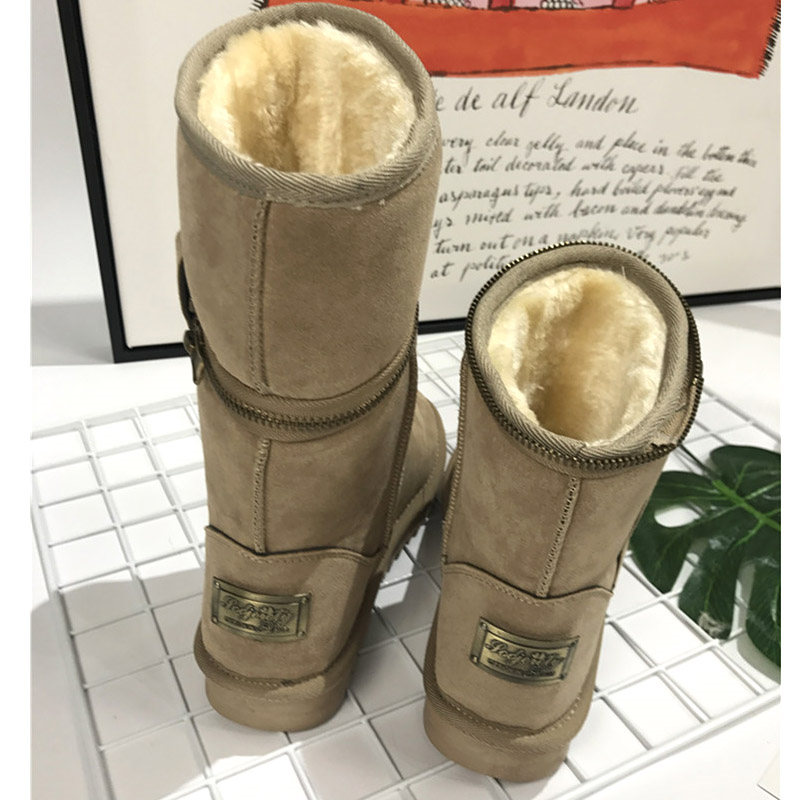 snow women boots warm winter boots women female ankle boots for women winter shoes botas femininas de inverno nikbea brown ankle boots for women vintage flat boots 2016 winter boots handmade autumn shoes pu botas feminina outono inverno