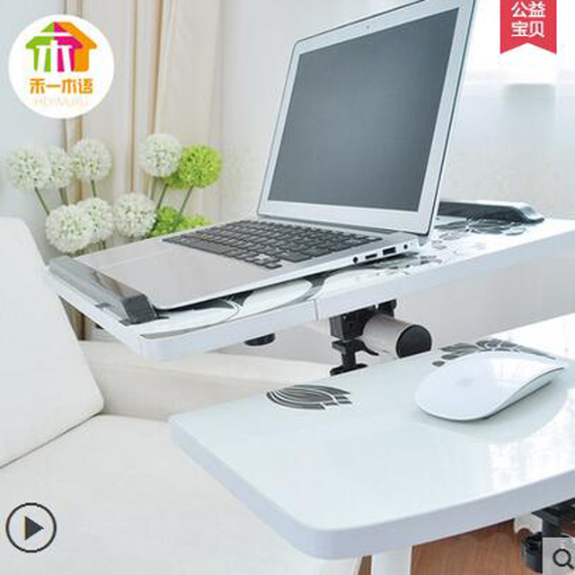 Impressão moda Tabela Do Portátil Móvel Independente bordo do mouse Preguiçoso Cabeceira Levantar a Mesa Do Computador de Mesa Regulável em Altura