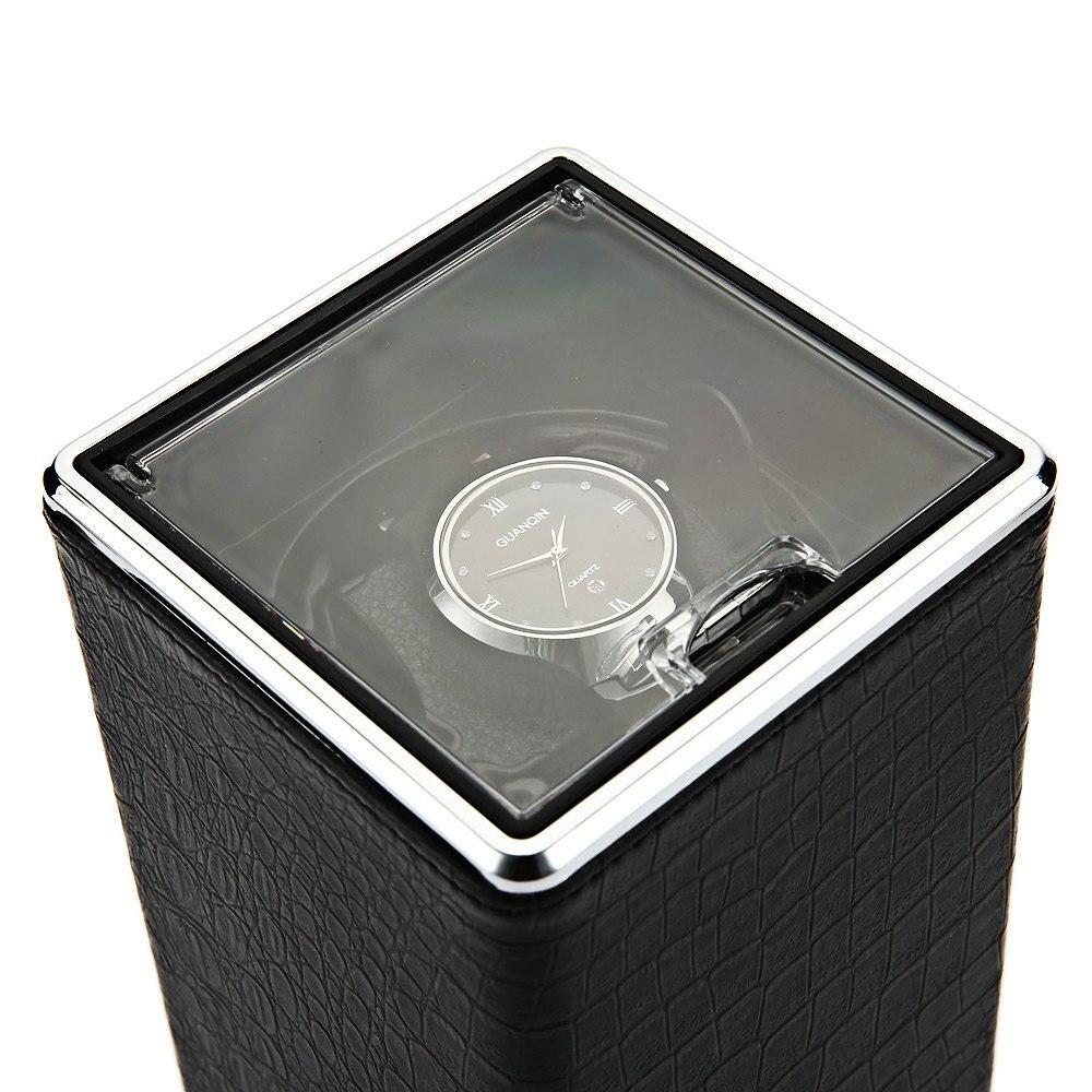 Автоматический поворот смотреть winder Дисплей коробка прозрачная крышка для хранения ювелирных изделий Организатор США Plug Caixa де relogios Часы н...