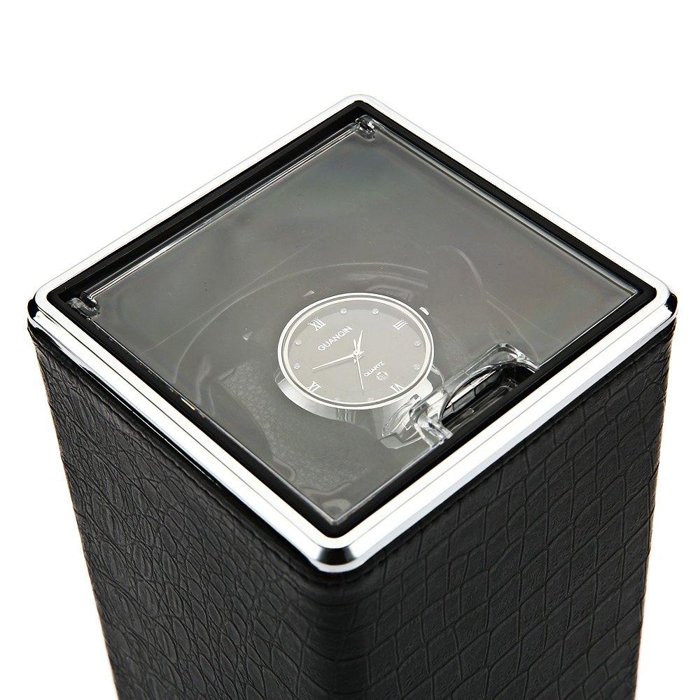 ФОТО Automatic Rotation Watch Winder Display Box Transparent Cover Jewelry Storage Organizer US Plug Caixa De Relogios Watches Winder