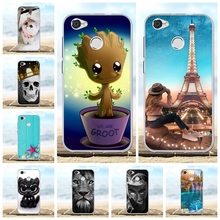For ZTE Blade A6 Lite Cover Ultra-slim Soft TPU Silicone Case Lion Patterned Coque Bag