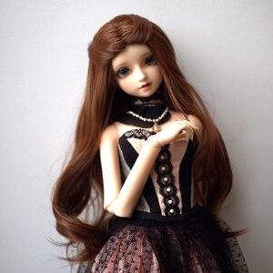 Многоцветная кукла ed BJD SD, wigстаринный костюм, бандажные волосы для 1/3 1/4 1/6 BJD кукла с большой волной коричневого цвета