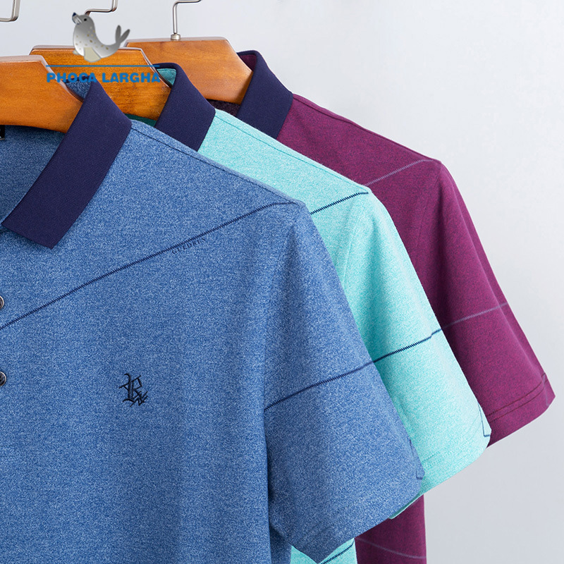 New Summer Men's Solid Color   Polo   Shirts Cotton Embroidery Short Sleeve   Polos   For Man Stand Collar Casual   Polo   Shirt Male