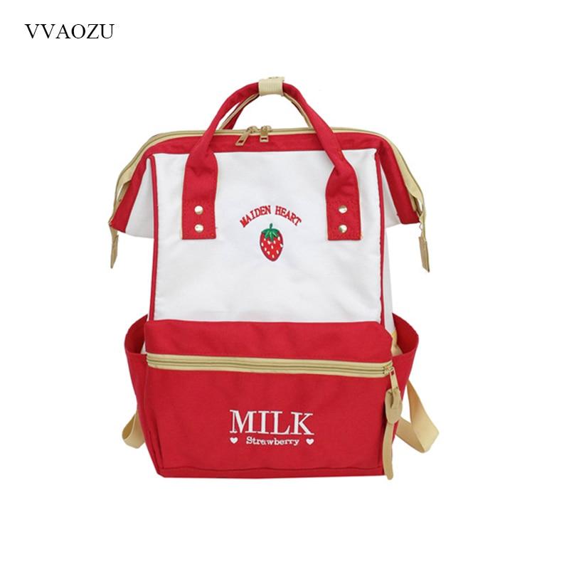 f611c6e9f4ce Japanese Style Backpack Harajuku Cute School Backpacks for Teenage Girls  Kawaii Strawberry Clip Laptop Back Pack