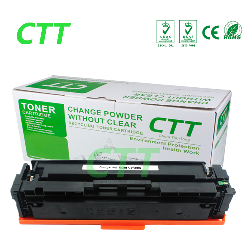 High Quality CF400X 400x cf400x Black Toner Cartridge Compatible for HP  M252N MFP M277DW  laser printer high quality black laser toner powder for hp printer cartridge made in china guangdong zhuhai 1kg bag free shipping by dhlfedex