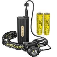 Barato Topsale Nitecore HC70 1000LMs recargable cueva exploración faro 2x18650 Paquete de batería externa luz impermeable envío