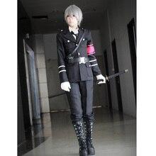 Tamaño personalizado pelucas Anime Togainu no Chi Akira Cosplay conjunto completo uniforme militar para hombre