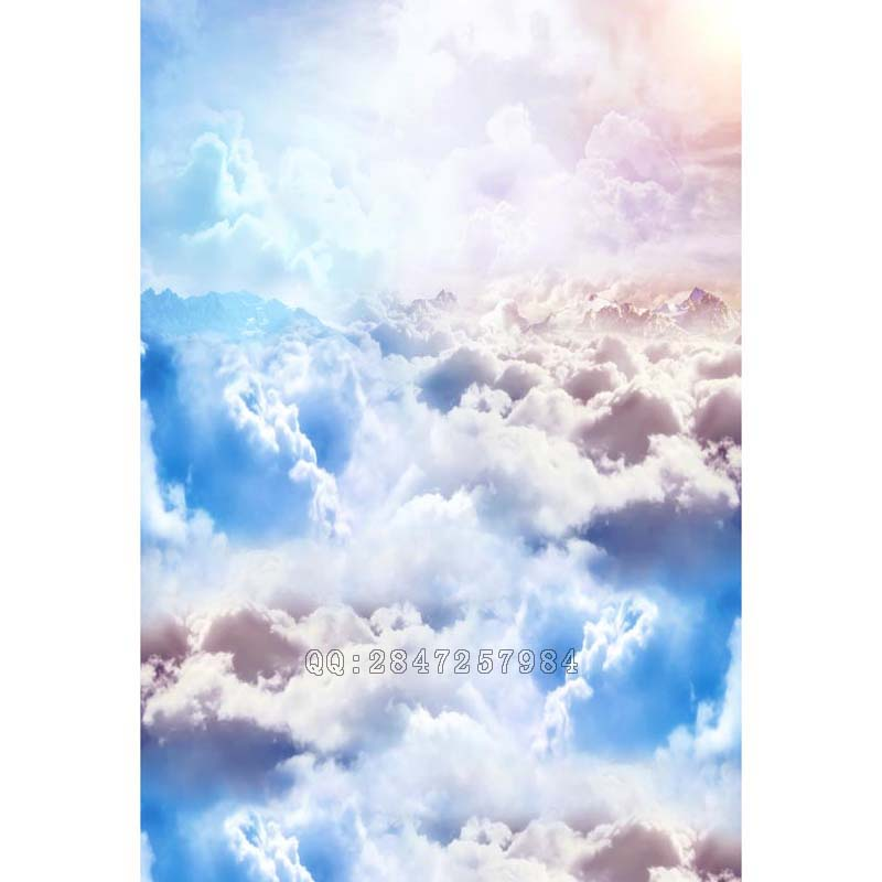 Thin vinyl  children photographer backdrop studio background blue sky and clouds  for boy S-1230 the photographer s cookbook