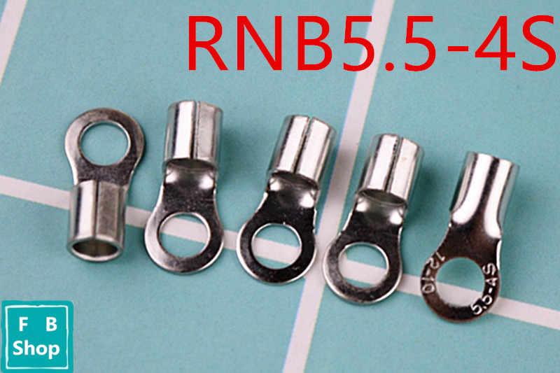 Envío Gratis RNB5.5-4S conector de Cable de lengüeta sin aislamiento de latón terminales de cobre puro AWG12-10