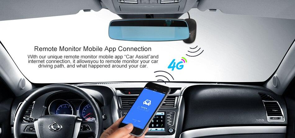 RUCCESS R40S 4G Dash Cam Car DVR Wifi GPS Camera Remote Monitor ADAS Smart Android 5.1 Dual Lens 1080P Nigth Vision Dashcam DVRs 5