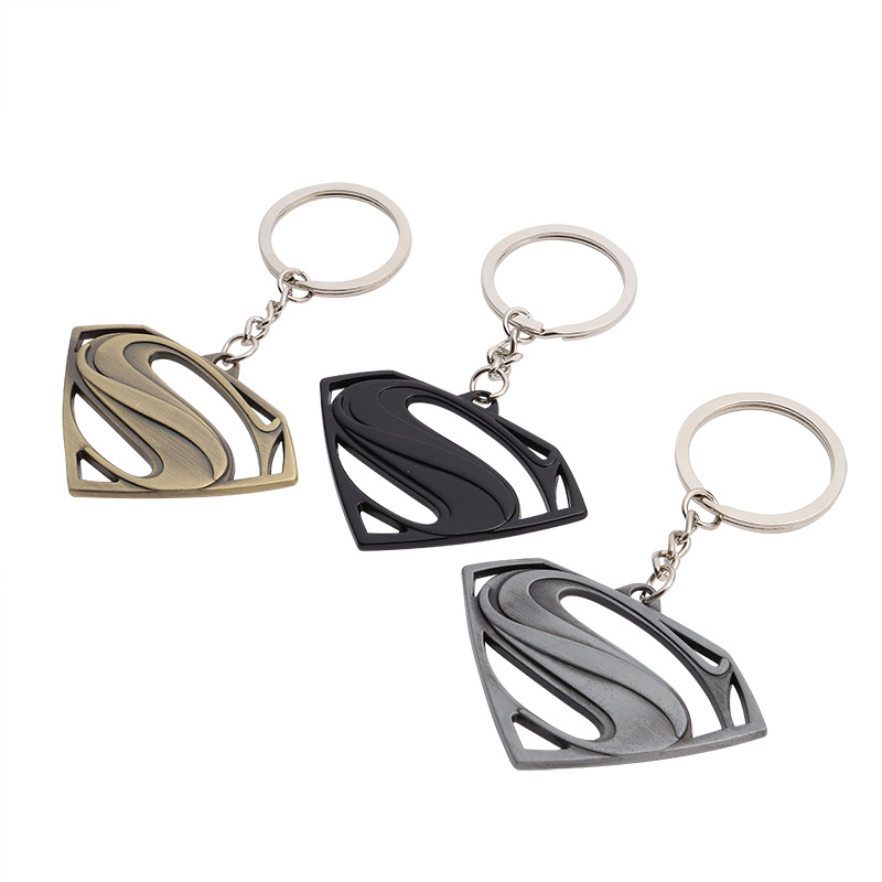 The Avengers Superman Keychain Superhero S Logo Key Chain High Quality Keyring for Women Men Fans Jewelry Free Shipping