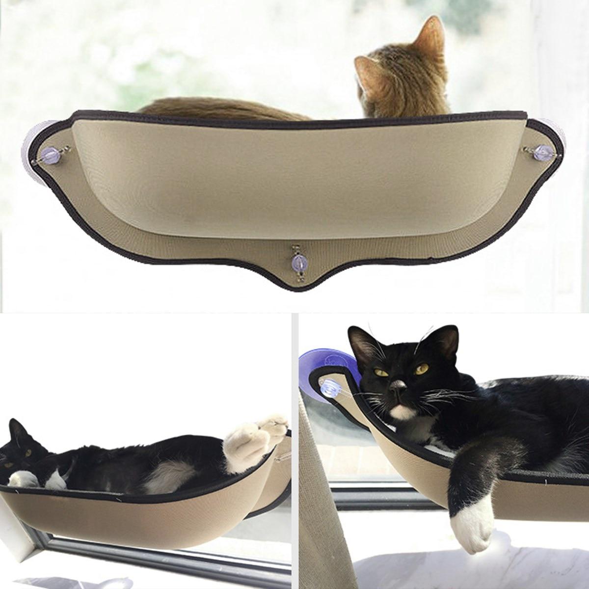 Eva Pet Cat Bed Window Door Wall Mounted Perch Half Pod Kitten Pad