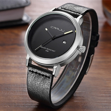 Zimowa wyprzedaż wyprzedaż mężczyźni zegarki luksusowe marki Casual Men zegarki sportowe zegarek kwarcowy męskie zegarki na rękę Relogio Masculino tanie tanio CRRJU Moda casual Klamra 3Bar QUARTZ Stop 22cm Hardlex 12mm 20mm ROUND Kwarcowe Zegarki Na Rękę CJ-2104 Skóra Kompletna kalendarz