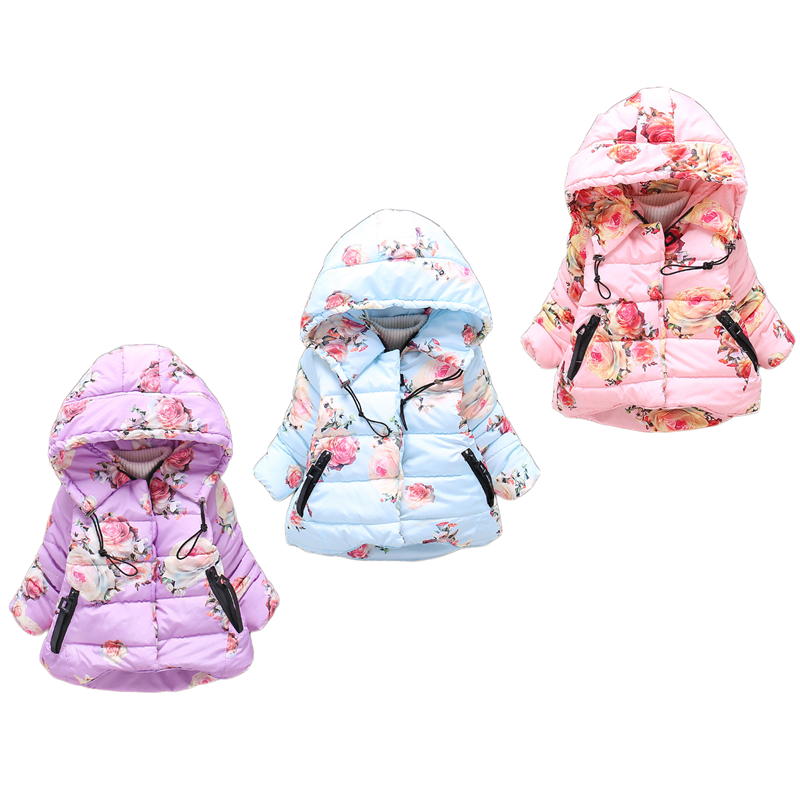 2017 Winter Girl Cartoon Cotton Jacket&Coat Kid Clothing Jackets For Girls Full Sleeve Clothes Hooded Thick Outerwear children thick winter jacket fashion jacket winter paragraph girls hairs ball cartoon embroidered cotton outerwear coat