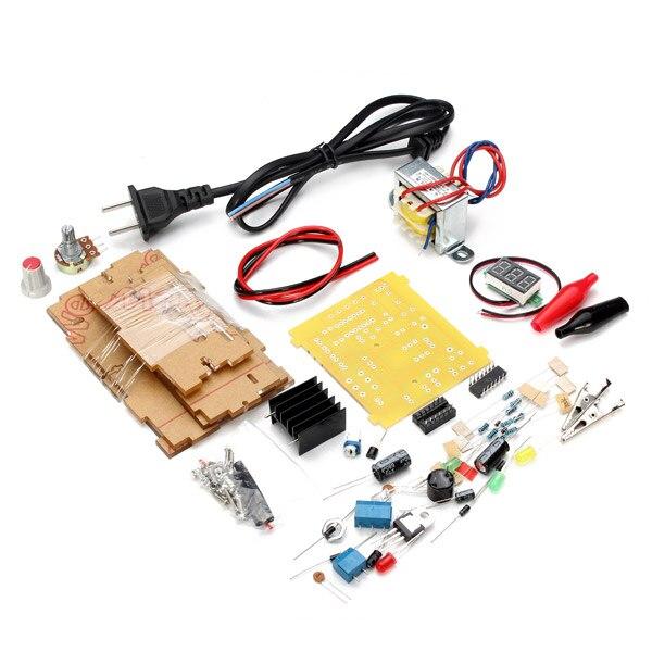 High Quality EU Plug 220V DIY LM317 Adjustable Voltage Power Supply Module Kit With Case цена