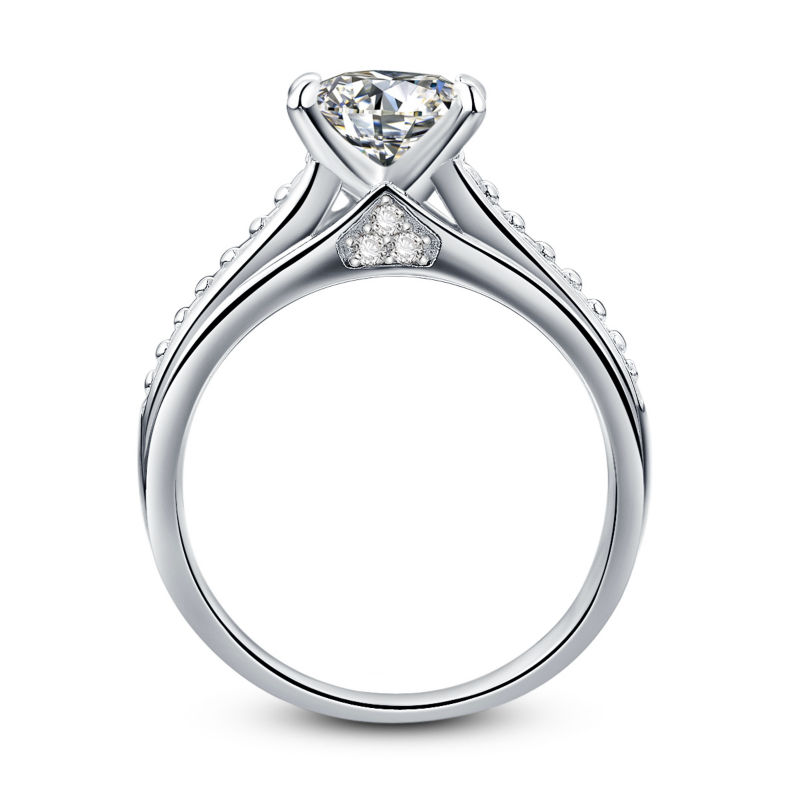 New Cathedral Style Princess Cut Pure 925 Sterling Silver