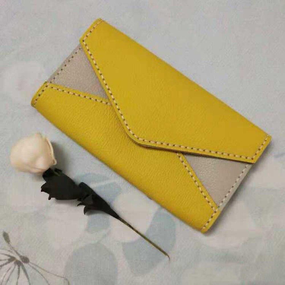 Artisanat cuir bricolage femmes enveloppe forme porte-carte aimant bouton portefeuille couteau de découpe moule main machine poinçon outil ensemble