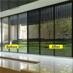 Funlife One Way Film Privacy Decorative Heat Control Anti UV Window Tint for Home and Office Black Silver Size 60x200cm