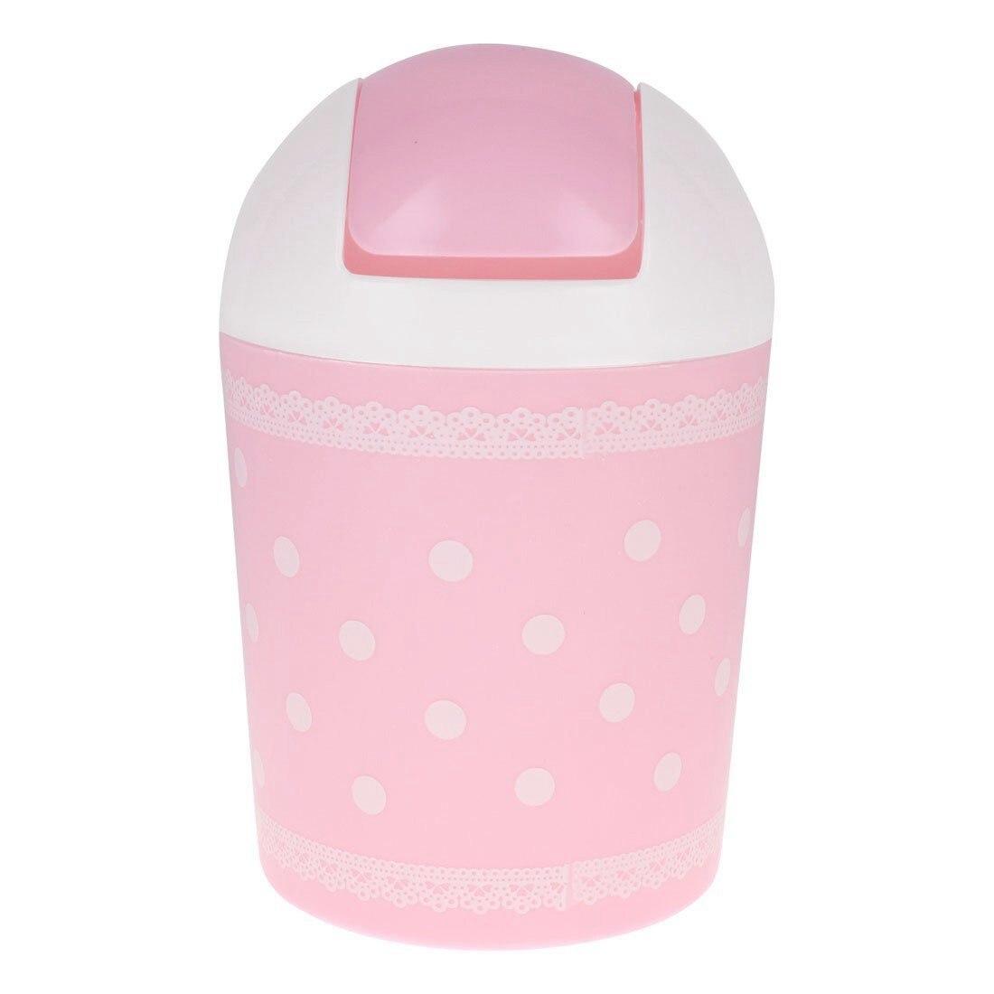HOT-Design of lace garbage pink garbage can