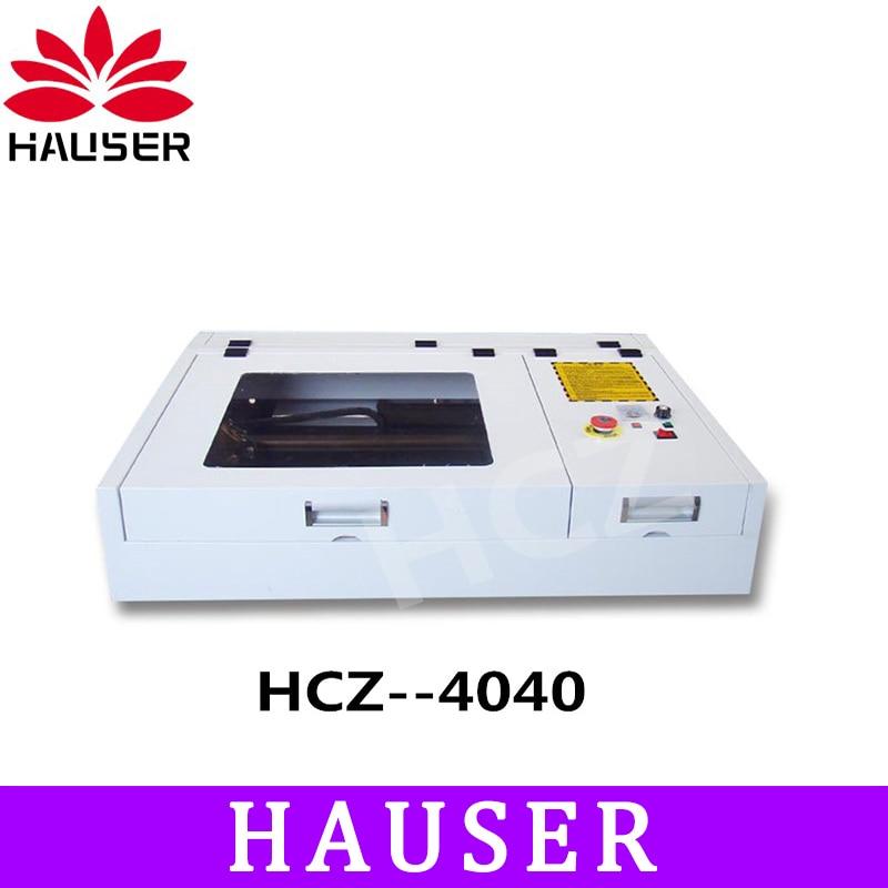 Envío gratuito HCZ 4040 50 W Co2 máquina de grabado láser máquina de láser cuttering máquina de grabador láser de la máquina de marcado láser cnc