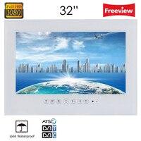 Souria 32 дюймов Большой Экран Ванная комната светодиодный ТВ/Водонепроницаемый ТВ черный/белый IP66 Безрамное Hotel телевизор Full HD 1080