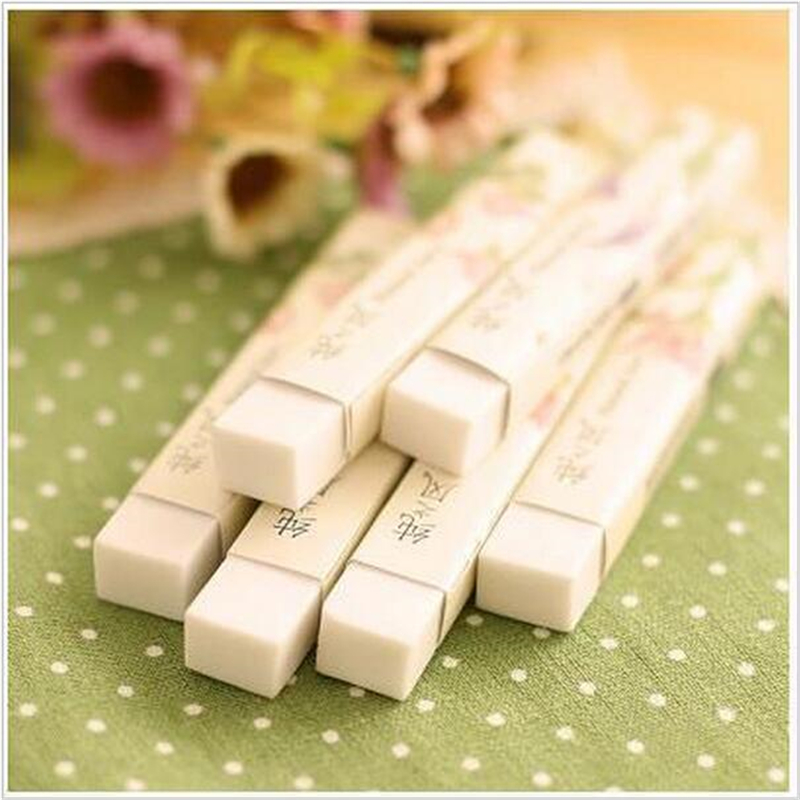 2pcs/lot Geometry Rubber Pencil Erasers Gum For Students Novelty Kids Learning School Stationery Office Supplies1